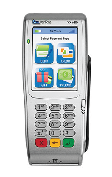 Verifone VX 680 Short-Range/Long Range Wireless Terminal